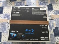 Sony BDP-S300 Blu-ray Player - Original packaging including Remote, Manual and HDMI cable