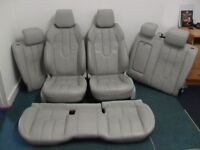 RANGE ROVER EVOQUE GREY LEATHER INTERIOR SEATS TRIM DOOR PANELS CARDS PROJECT CUSTOM LAND ROVER