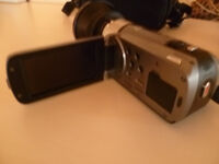 cannon legria hd camcorder with semi fisheye wide angle lens. £99