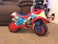 Spiderman ride on bike