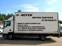CHEAPEST REMOVAL SERVICE 24/7 HOUSEMOVE-OFFICEMOVE-SINGLE ITEM-FULLY INSURED