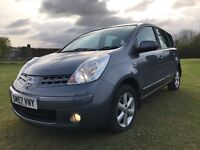FULL MOT 2007 Nissan NOTE ACENTA 1.4 MPV FULL SERVICE HISTORY VERY CLEAN CONDITION