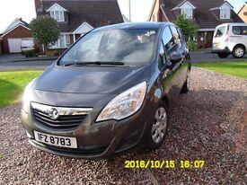 Vauxhall Meriva. 1.7 CDT1. 130 bhp. 2012. 17,910 miles. 12 months MOT. Immaculate condition