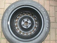 vw passat spare wheel & tyre