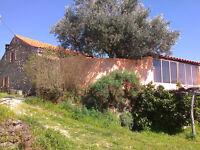 For sale: organic farm, granite stone farmhouse, separate annexe .3 acres.Fundao Central Portugal