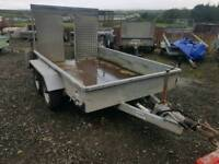 Indespension 8x5 trailer with rear loading ramp full led lights