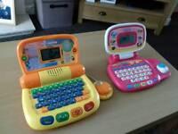 2 x V-Tech children's learning laptops