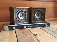 Legendary Vintage Auratone Cubes + Amcron/Crown D-75 Poweramp
