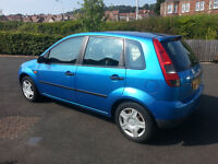 Ford Fiesta Finesse 1.25L 2005 5 door. Excellent Driving Car
