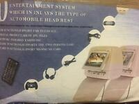 DVD video & music entertainment system Head rests OFFERS