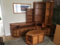 Solid teak wall unit and tv stand