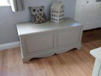 Huge Solid Pine Painted Shabby Chic Blanket Box