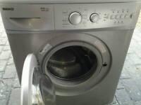 Beko washing machine 1400 spin silver