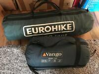Eurohike 3 person Tent with sleeping bag