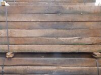 Reclaimed Railway Sleepers | Grade A | Garden | Rustic 2600 x 240 x 140