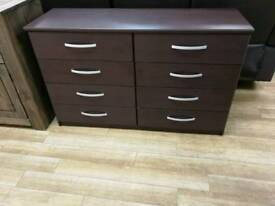 Brown 8 drawer chest (slight scuffs and marks) but not that noticable check pics for details