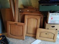 19 matching Kitchen Cupboard Doors with plenty of matching plinth and ends