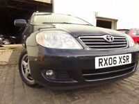 06 TOYOTA COROLLA T3 D-4D DIESEL 2.0 ESTATE,MOT APRIL 017,PART HISTORY,2 OWNERS,VERY RELIABLE CAR