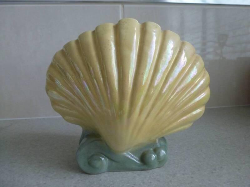 Vintage Yellow Seashell Vase Vases Bowls Gumtree Australia