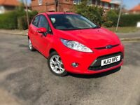 2012 FORD FIESTA 1.2 ZETEC 5DR,35000 MILES ONLY,FORD HISTORY,NEW MOT & SERVICE DONE,GRAB A BARGAIN.