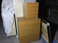 Ikea chest with bedside matching set