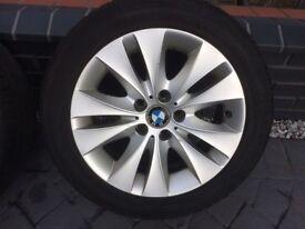BMW 5 series F10-E60 -E61 Alloys Wheels & Winter Tyres 245/45/R17 99V