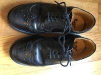 Size U.K. 3. Dr Martens black leather brogues.