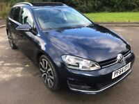 Unique 19000 Miles 2015 VW Golf DSG GT Blue-Motion Estate Winter Pack And Upgraded Alloys HPI Clear