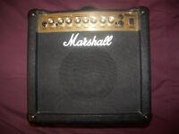 Marshall MG15DFX Guitar Combo Amp / Amplifier.
