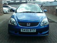 2005 55 Honda Civic 1.6i VTEC Sport 3dr ** 12 MONTH MOT **