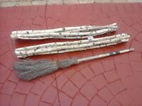Rustic garden poles/stakes