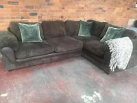 Harvey's Ex Display Chocolate Brown Corner Sofa - Lullabye Range - Can Deliver