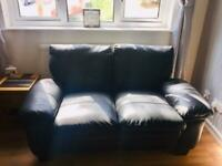 Leather settee (2 seater)