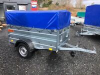 BRAND NEW MODEL 6X4 DOUBLE BROADSIDE WITH FRAME AND 50CM COVER 750KG
