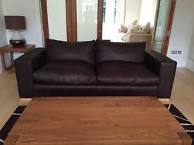 """Sofa Workshop 4 Seater Leather Sofa """"Delacroix"""" in Excellent Condition"""