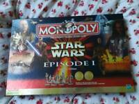 Star Wars Episode 1 Collectors Edition Monopoly Game in Box