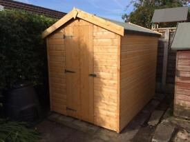 7x5 APEX ROOF GARDEN SHEDS (HIGH QUALITY) £349.00 ANY SIZE (FREE DELIVERY AND INSTALLATION)