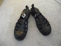 Juju jelly shoes, black. Size 8