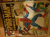 Vintage marvel and dc comics