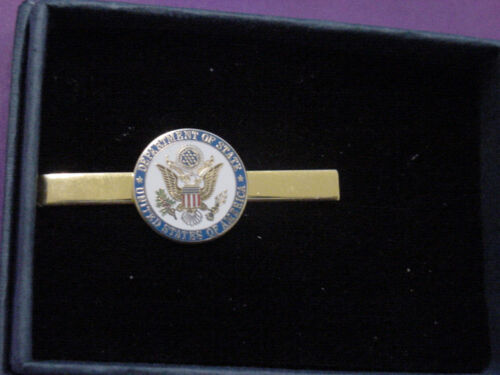 U S Department of state  DOS tie clip COLOR SEAL -    NEW