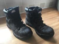 Size 12 Himalayan Safety Boots - Black with steel toe caps
