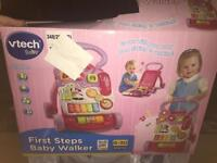 V-Tech Baby First Steps Baby Walker (Pink)