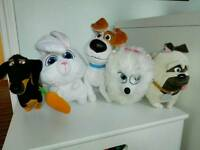 5 xSECRET LIFE OF PETS SOFT TOYS BUNDLE