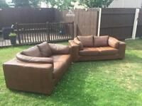 2X2 Seater sofas Italian leather