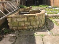 Bricks from pond