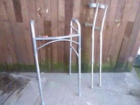 Folding walking Frame and Crouches Delivery Available £10