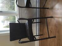 Wicker chairs bar stool level
