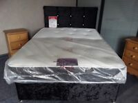 NEW BED BASES, MATTRESSES AND HEADBOARDS Crushed Velvet in Black, Ivory and Silver BED BASES AND