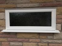 """Small UPVC Window complete with """"Autumn leaf"""" obscured glass"""