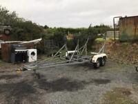 Road legal fin keel boat trailer
